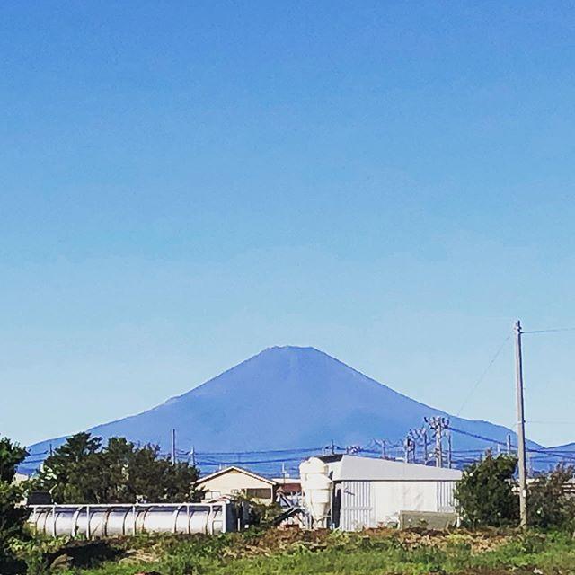 台風一過の富士